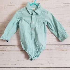 Baby b'gosh checked long sleeve shirt 18m